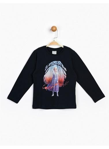 Frozen  Uzun Kol Çocuk Tişört 16308 Lacivert